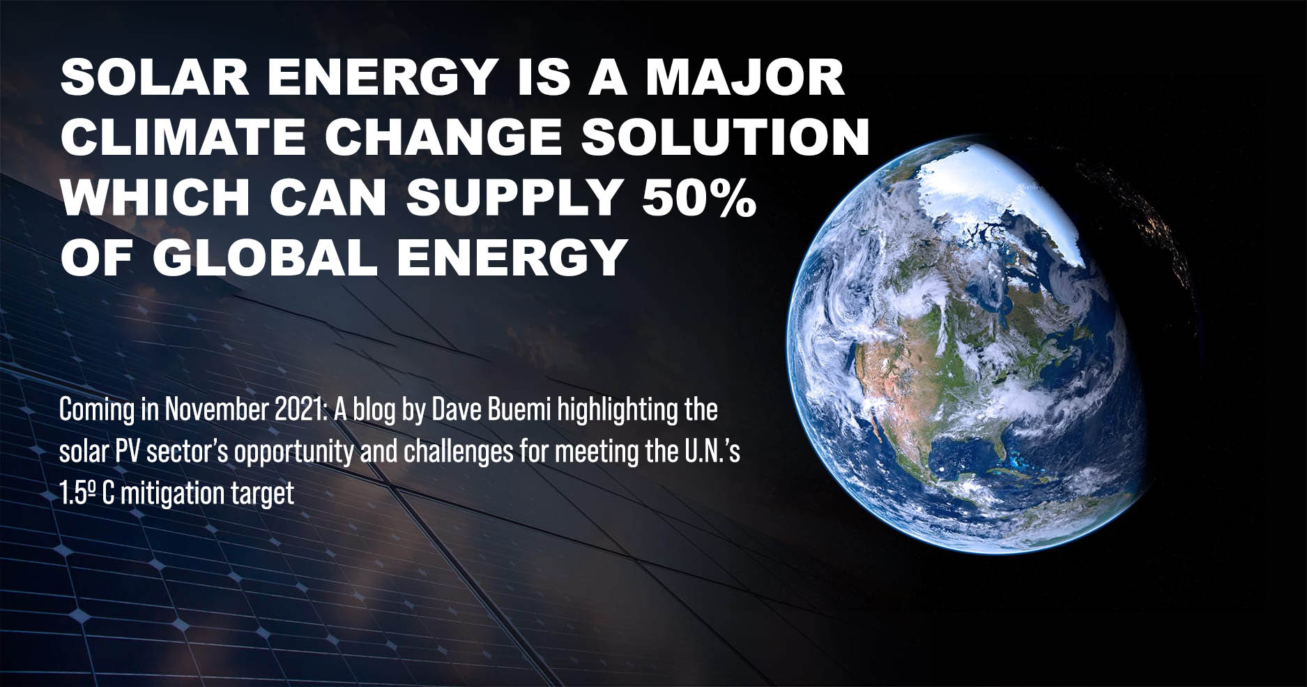 solar energy statement with image of earth